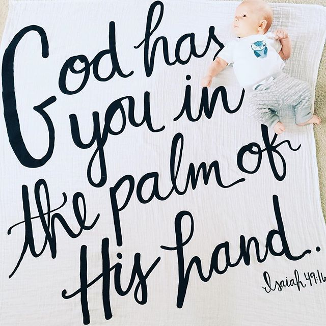 ~Wrapped in His love~ #Isaiah49:16Swaddle #modernburlap