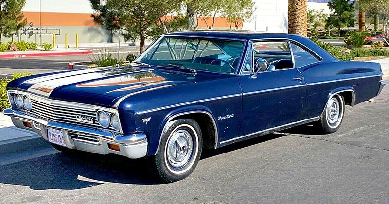 1966 Chevrolet Impala SS Coupe – Factory 396 V8 – Seafoam Green