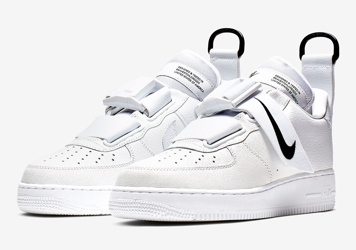 946c1e86 Nike Air Force 1 Utility White And Black | sneakers in 2019 | Обувь