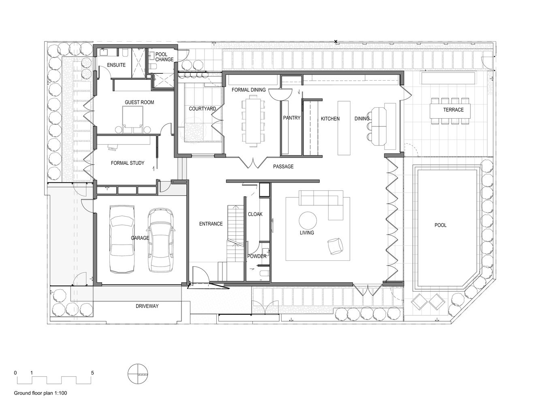 Gallery Of Light Vault Chamberlain Architects 46 Ground Floor Plan Floor Plans Concrete Architecture