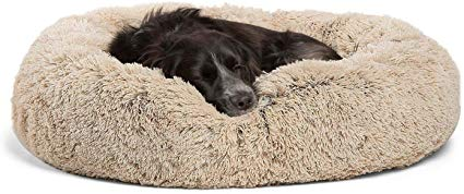 Amazon Com Best Friends By Sheri Calming Shag Vegan Fur Donut Cuddler 30x30 Medium Taupe Removable Zippered She In 2020 Dog Bed Affordable Dog Beds Cool Dog Beds