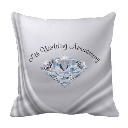 60th Wedding Anniversary Gifts Traditional Pillow