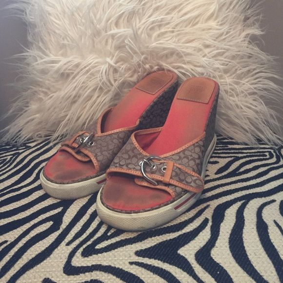 Coach wedge Coach wedges 7.5 trades Mercari PayPal  offers only thru button  thanks and happy bidding Coach Shoes Wedges