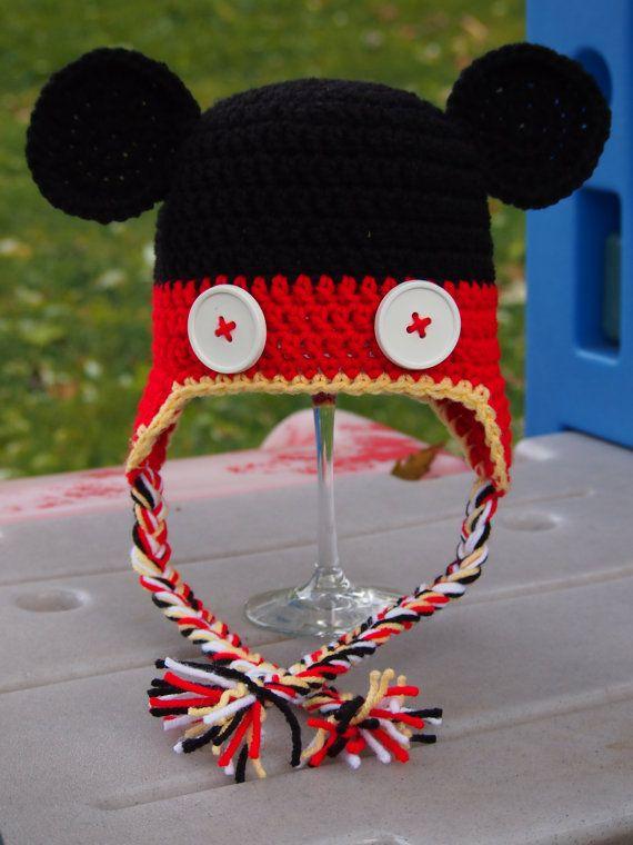 Crochet Mickey Mouse Hat by OopsyDaisyBB on Etsy, $25.00 | idei de ...