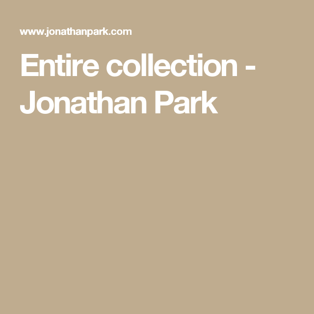 Entire collection - Jonathan Park