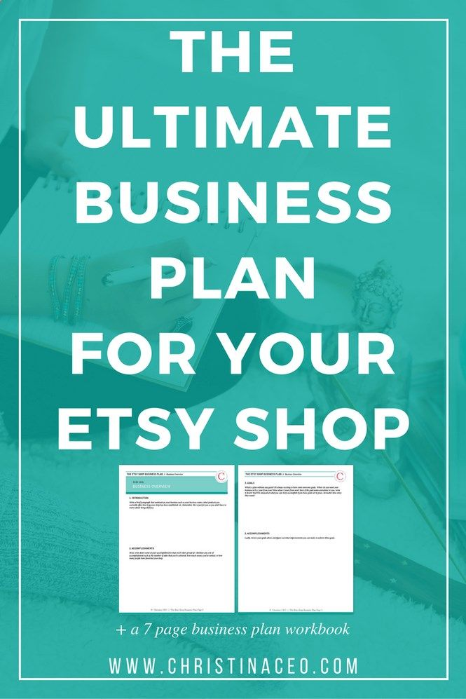 Want to create the perfect business plan for your Etsy shop? I will