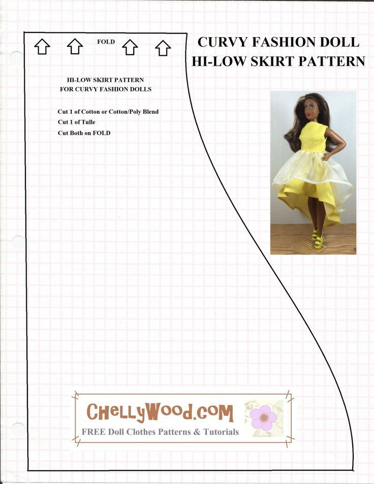 Free printable sewing patterns for doll clothes to fit the new Curvy ...