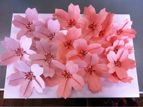 折り 折り紙 折り紙 桜 作り方 : de.pinterest.com