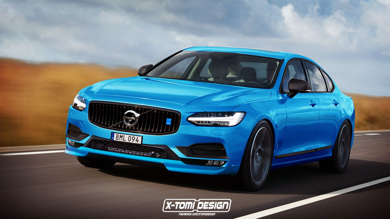 Soon after unveiling the volvo s90 saloon at the volvo design centre in gothenburg