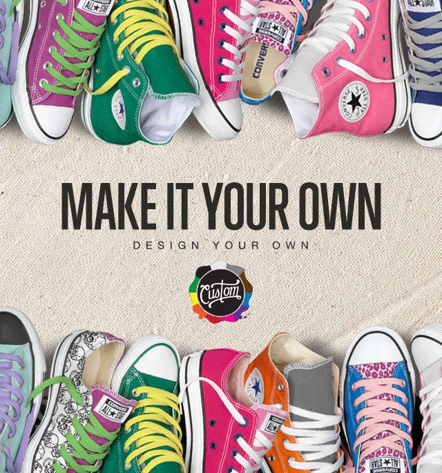 How to Design your own Shoes Step 1: Go to the Converse website and then click on the Custom tab. From here, you'll notice the wide variety of designs available including Chuck Taylor, Star Player, Jack Purcell and more.