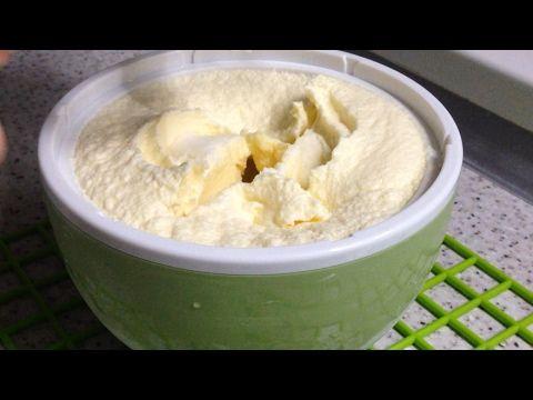рецепт мороженого в мороженице пломбир