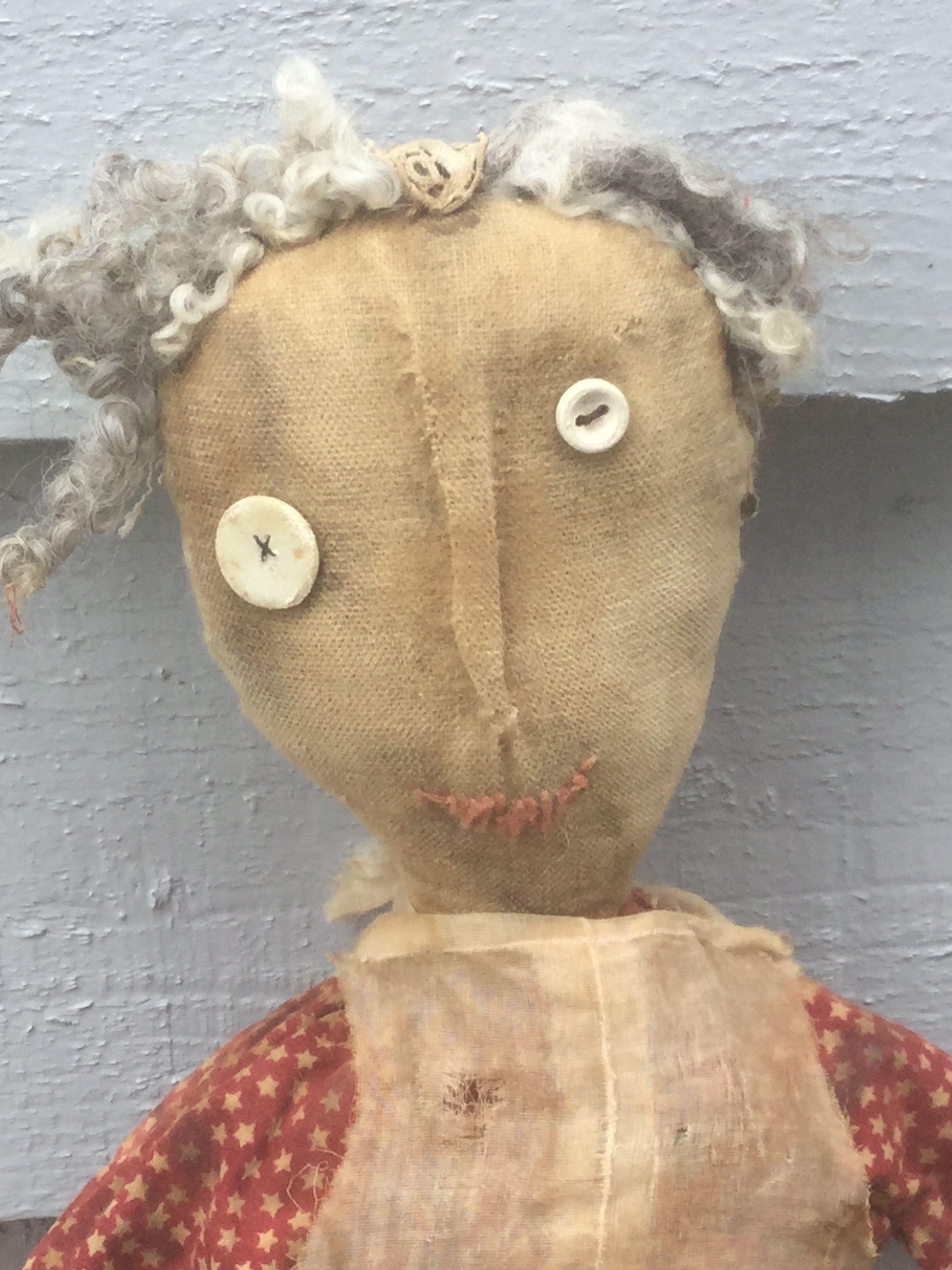 Ann Small Primitive cloth doll