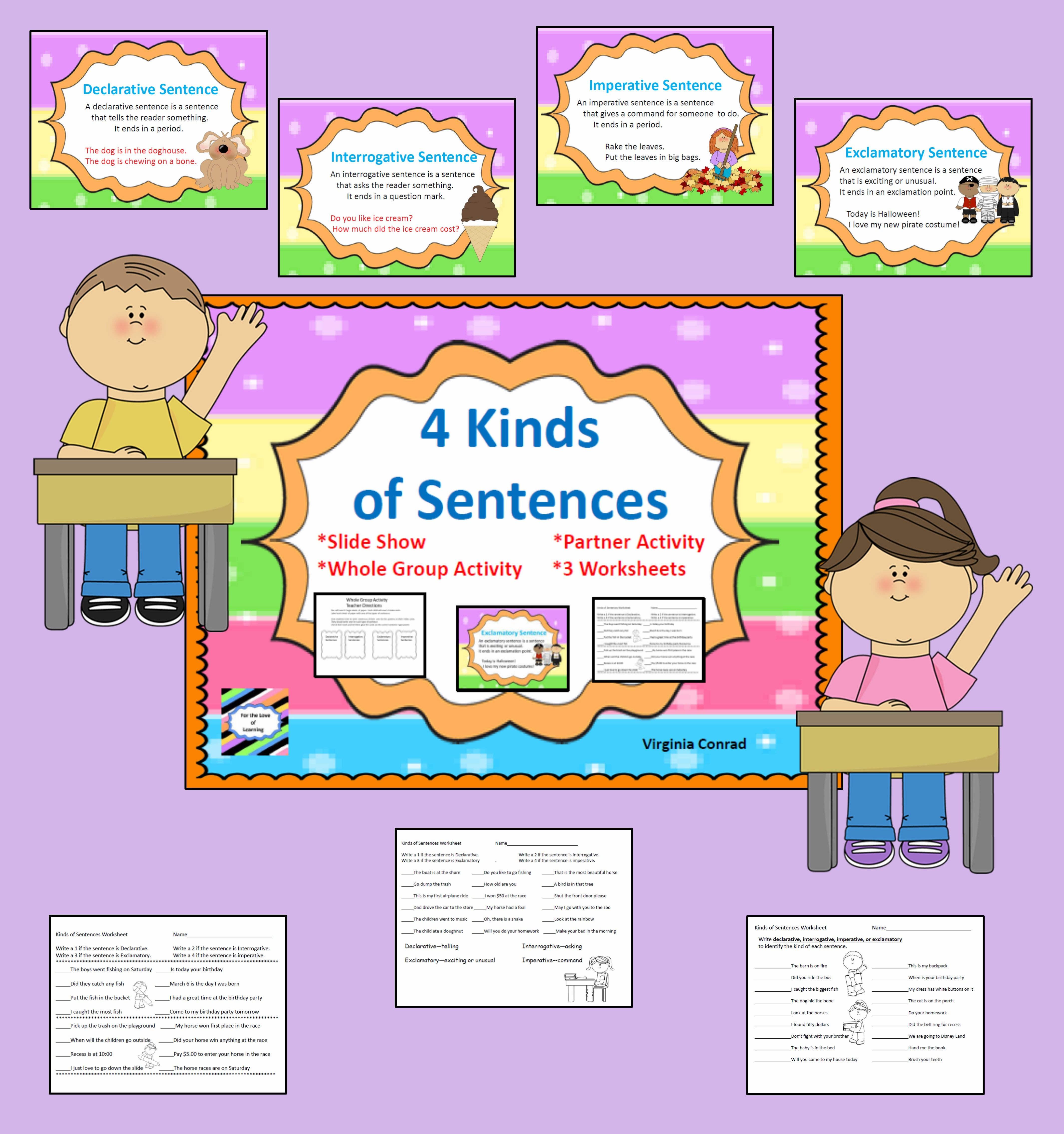 Four Kinds Of Sentences Mini Unit
