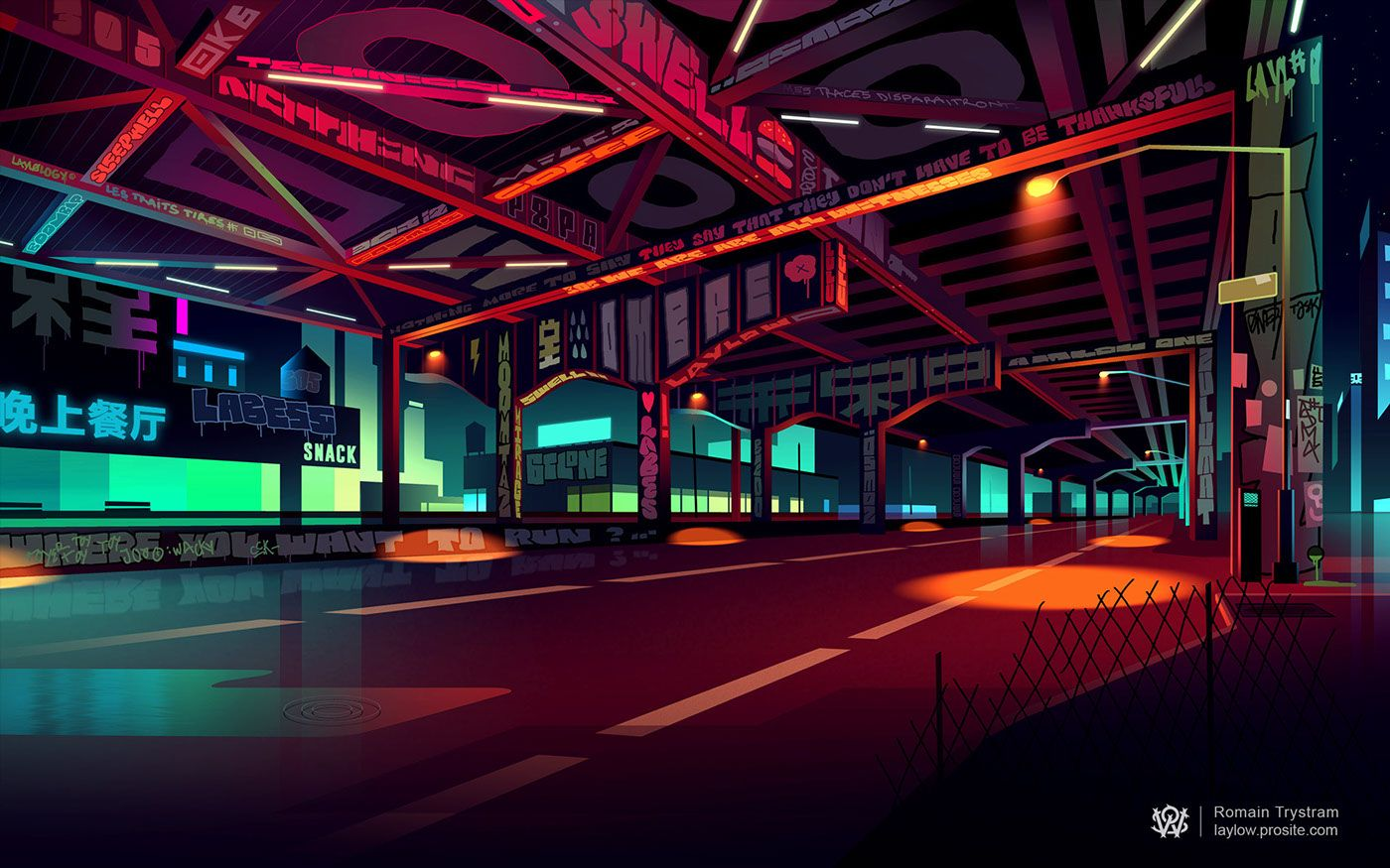 Wetransfer wallpaper by Romain Trystram
