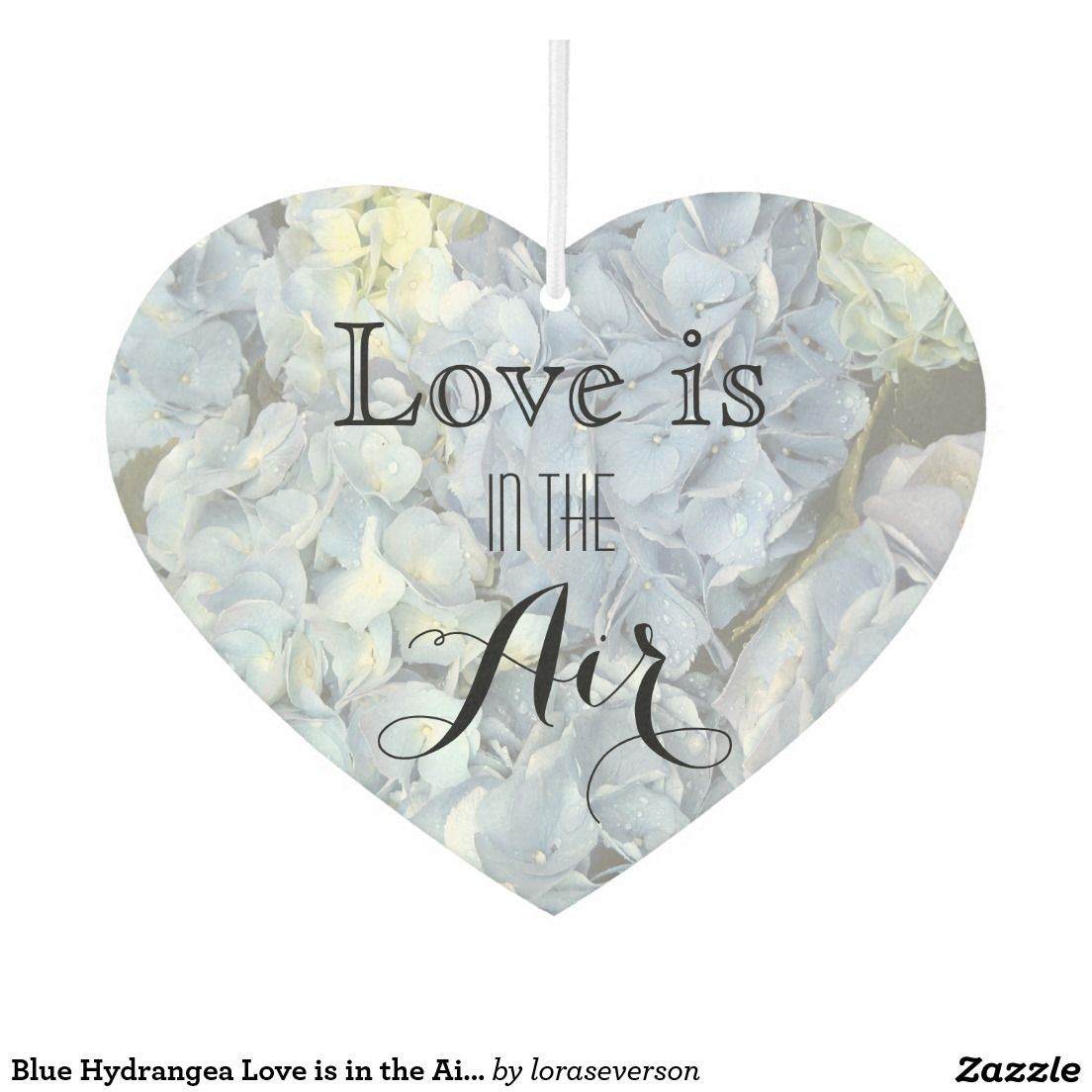 Blue Hydrangea Love is in the Air Wedding Favor Car Air Freshener ...