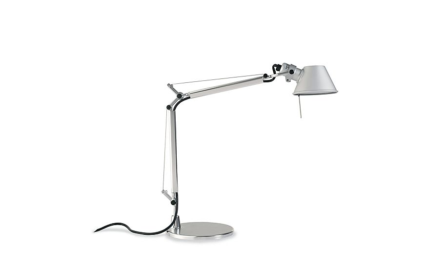Artemide Tolomeo Micro Lamp Silver At Dwr In 2020 Industrial Wall Decor Desk Lamp Design Industrial Interior Living Room