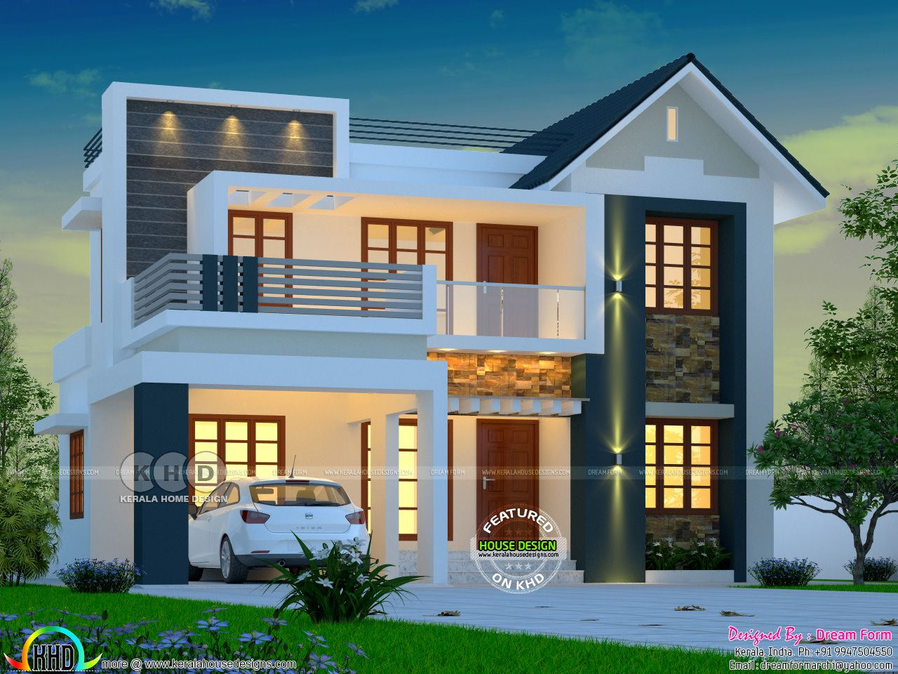 Awesome budget friendly mixed roof home Duplex house