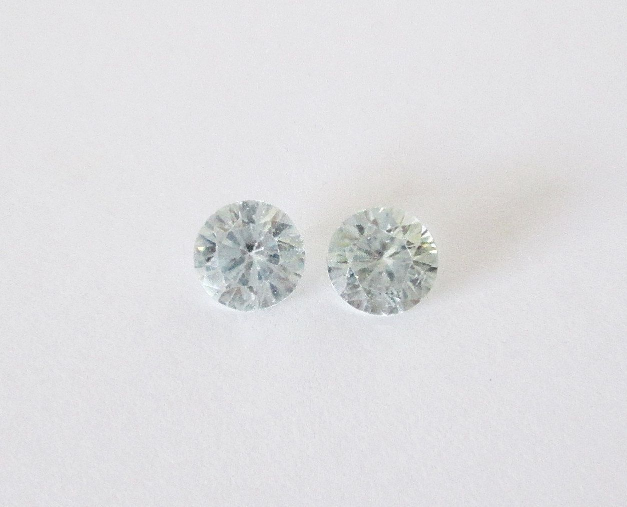 Natural Cambodian Blue Zircon 5mm Round matched Pair 1.30cts by BellaGems61 on Etsy