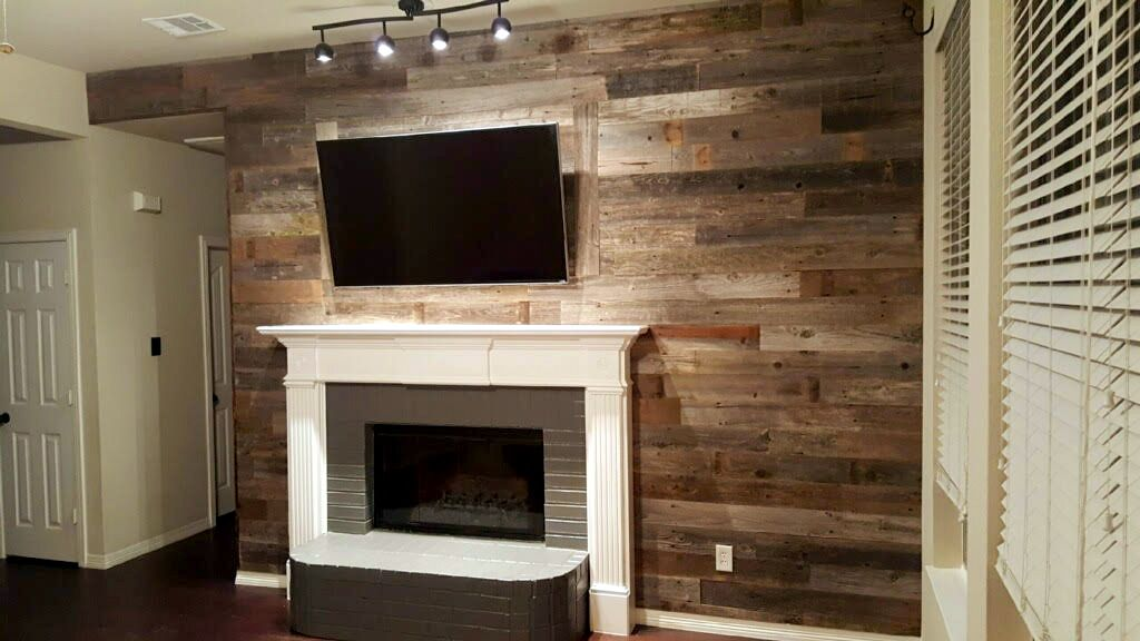 Adding Wood To Wall That Has Fireplace A Reclaimed Sustainable Lumber Company
