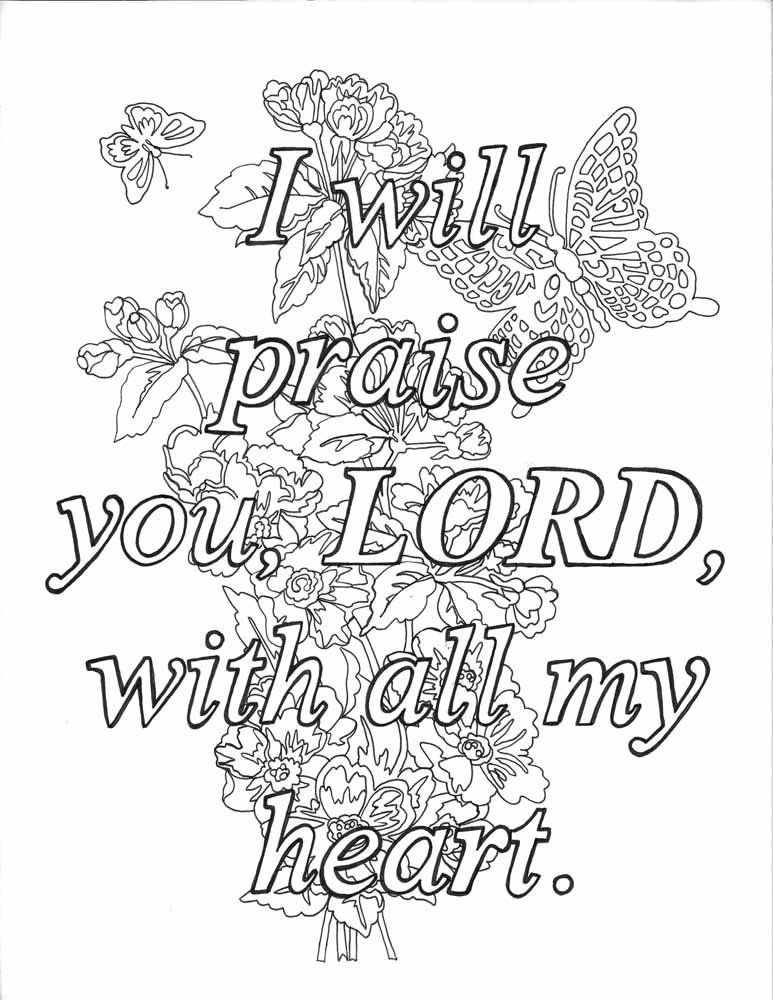 Color the Praises of God A Coloring Book for