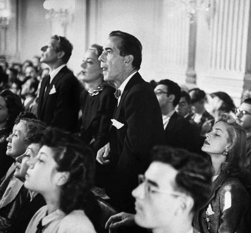 Danny Kaye June Havoc Humphrey Bogart Lauren Bacall At A Hearing Of The House Un American Activities Committee Humphrey Bogart