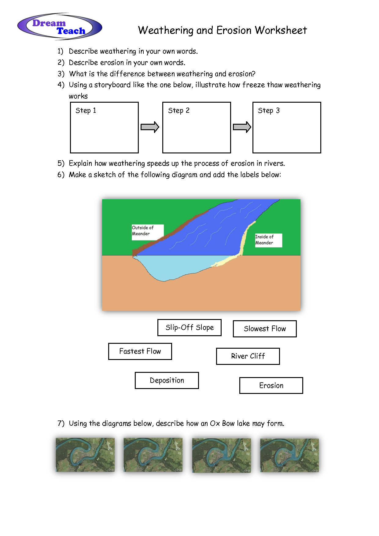 Weathering And Erosion Worksheet school