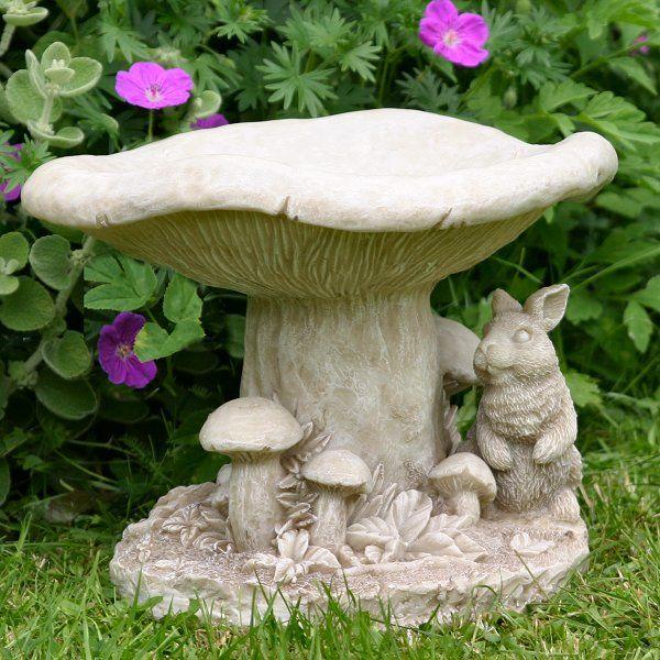 Fairy Bird Baths Mushroom Rabbit Bird Bath Ornamental Garden Bird Baths Bird Bath Garden Bird Bath Bird Garden