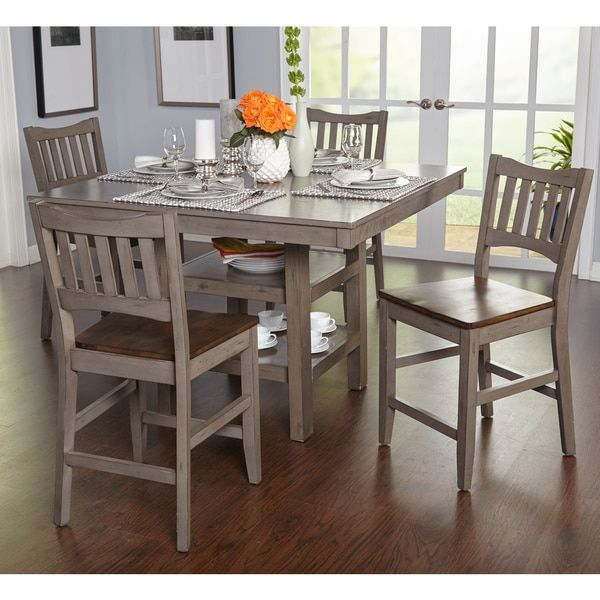 630e99b4977cf Keston White 5 Pc Square Counter Height Dining Room - Dining Room Sets  Colors