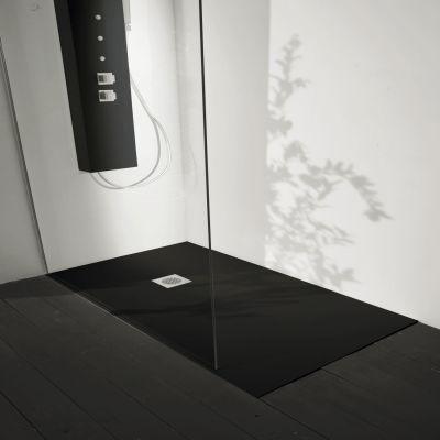 Prezzi e Sconti: #Piatto doccia resina liso 200 x 80 cm nero ad Euro ...