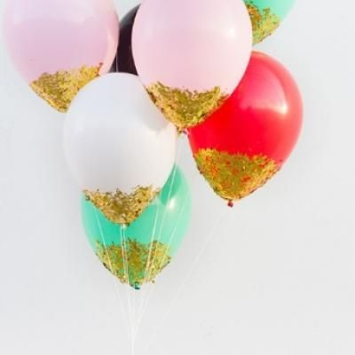 DIY Confetti Dipped Balloons birthday decorations party ideas