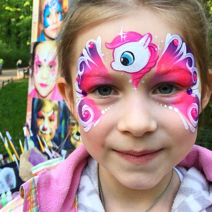 Madchen Einhorn Make Up Fasching Gesichtsbemalung Carnival