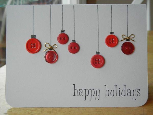 elegantes tarjetas navideas hechas a mano
