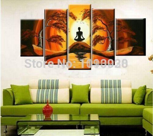 Günstige Handgemalte Moderne Ölgemälde Hängen Abstrakte Landschaft - moderne bilder fürs wohnzimmer