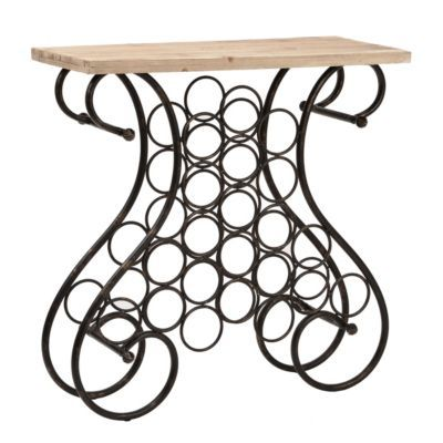 Wrought Iron Console Table With Wine Rack Kirklands Living Room