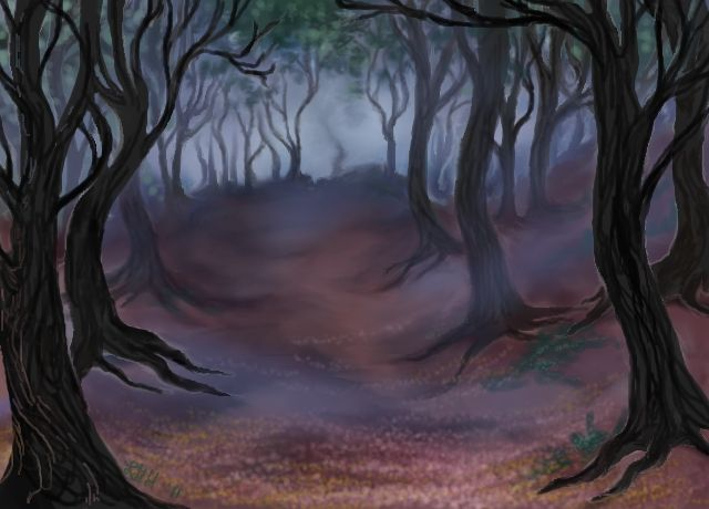 Haunted Forest By Auroraskye Landscapes Drawing The Ethereal Haunted Forest Landscape Drawings Forest Drawing