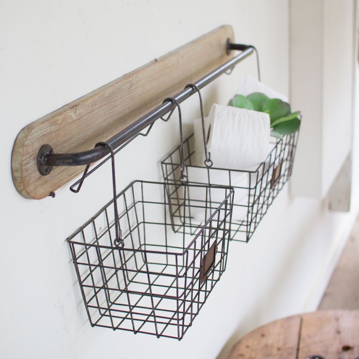 Metal Wire Basket Bins Wall Decor Versatile Metal Wire Basket Wall Decor Display Storage With Removable Baskets For Ea Wire Baskets Wall Brackets Diy Bathroom