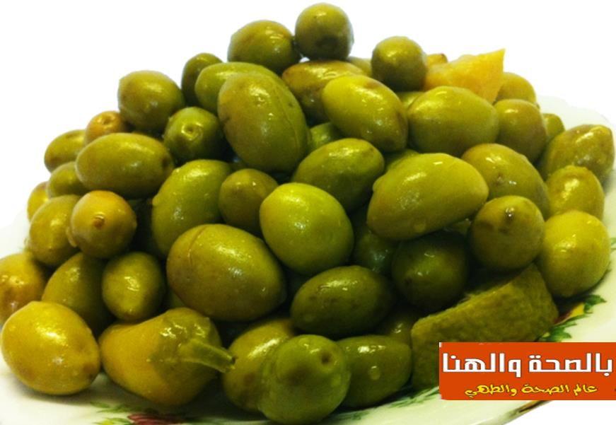 طريقة تخليل الزيتون الاخضر بالصحة والهنا Green Olives Cooking Recipes Olive