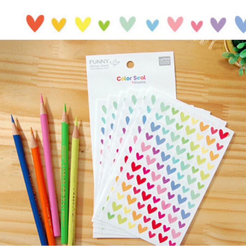6pcsset Kawaii Diary Decoration Scrapbooking Love Dot Starts