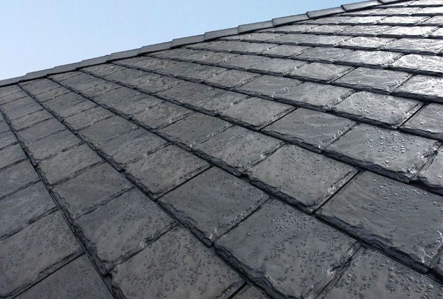 Euroshield Eco Friendly Roof Shingles Made From Recycled Tires Tyres Recycle Green Building Materials Roof Shingles