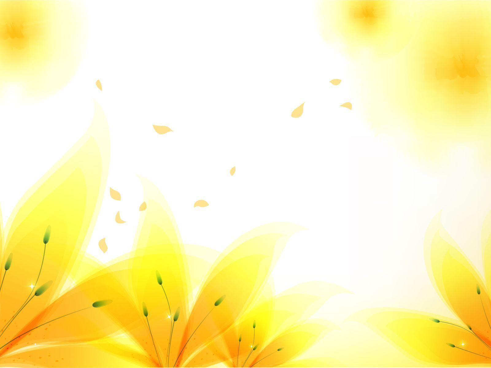 Fresh yellow flowers backgrounds flowers yellow ppt free fresh yellow flowers backgrounds for powerpoint templates toneelgroepblik Image collections