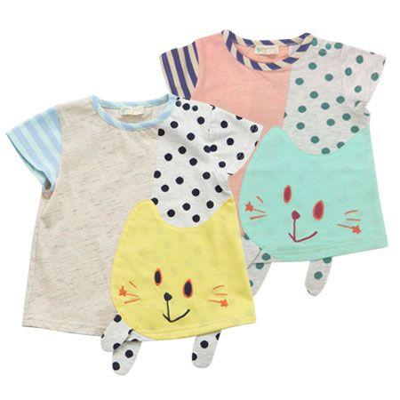 baby cheer でかネコ半袖Tシャツ[80cm-100cm] | 2013年春夏商品一覧 | baby cheer | ミリカンパニーオンラインショップ