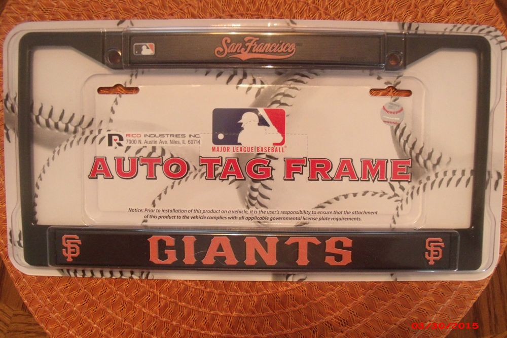 MLB Official San Francisco Giants Black Chrome Auto License Plate ...