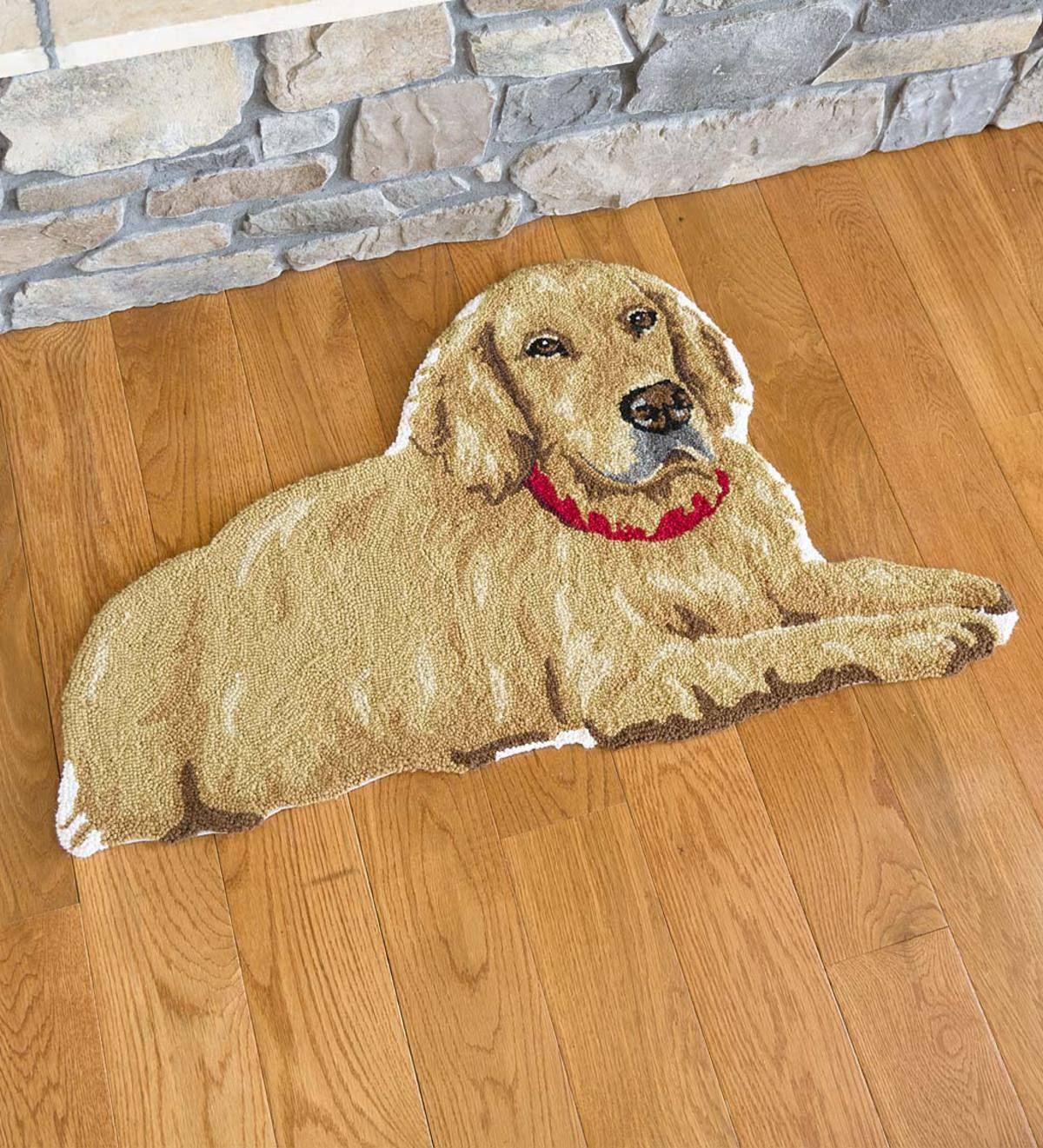 Golden Retriever Wool Rug Plowhearth In 2020 Golden Retriever Retriever Wool Rug