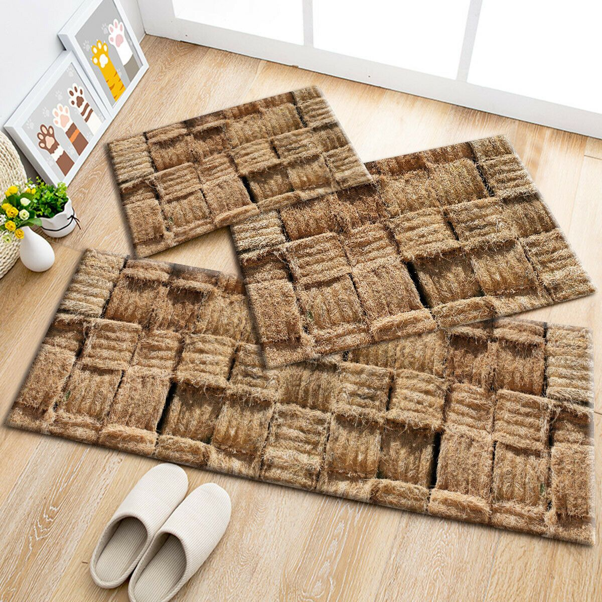 Autumn Rustic Straw Pattern Area Rugs Kitchen Bedroom Rug Living Room Floor Mat 6 99 Fall Rugs Ideas Living Room Flooring Rugs In Living Room Bedroom Rug