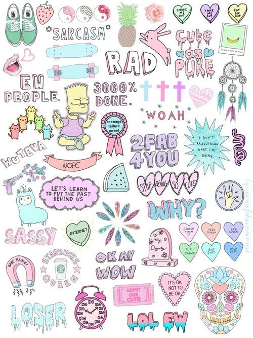 Rad   Those crazy teen collage things