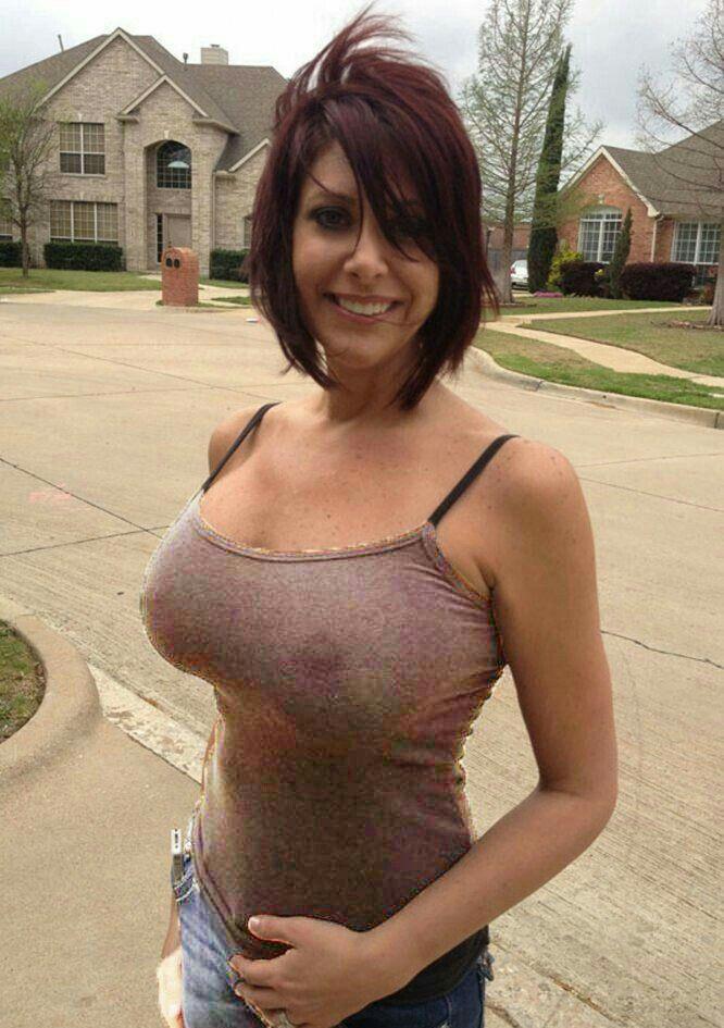 Hot babes short hair big boobs