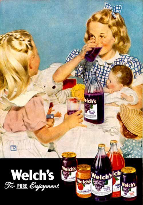 Welch's 1949 advertisement (Douglass Crockwell)