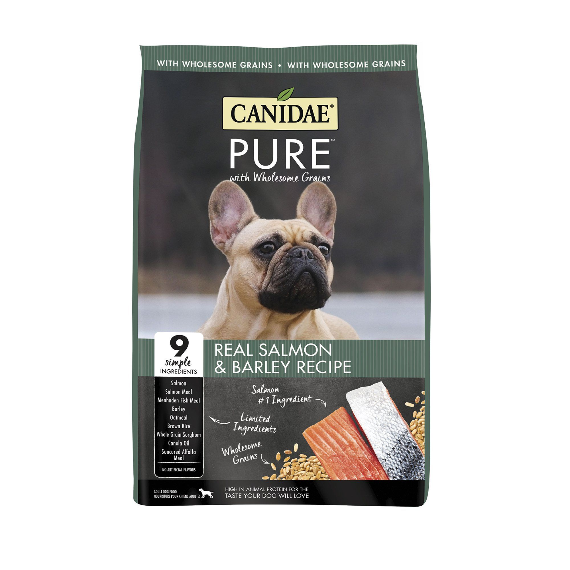 Canidae Pure Real Salmon Barley Recipe Dry Dog Food 24 Lbs In