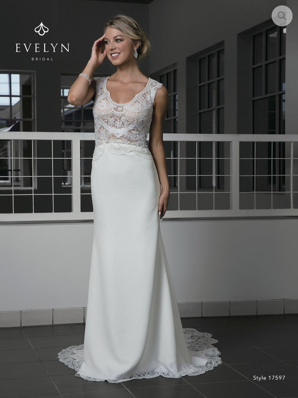 Vera wang wedding dress rental  Emmalee Lace with the crepe fabric  Available at Adore