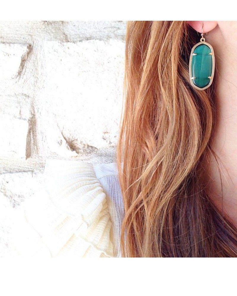 Elle Earrings In Emerald Cat S Eye Kendra Scott Jewelry